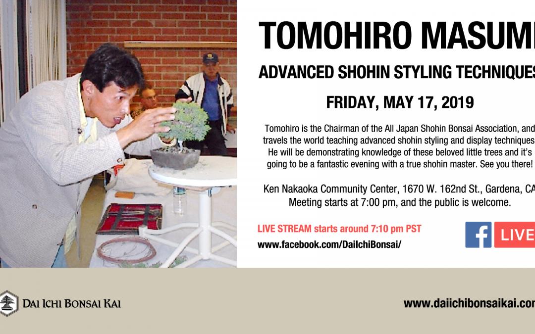 MAY 17th 2019 MEETING | TOMOHIRO MASUMI – ADVANCED SHOHIN TECHNIQUES