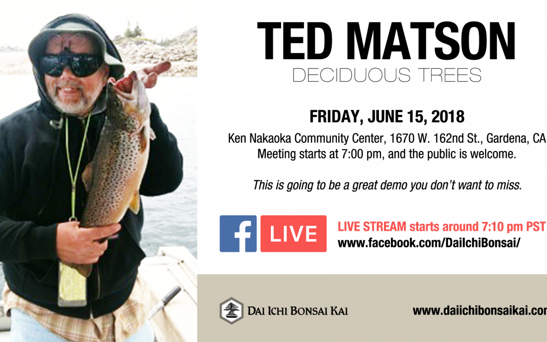 JUNE 15th 2018 MEETING – TED MATSON